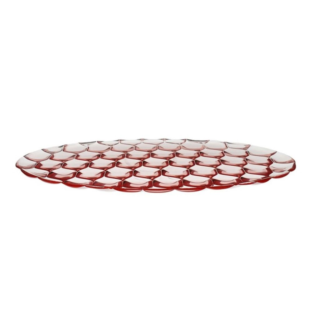 Kartell oval tray in pink colour