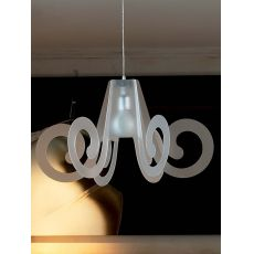 Ricciolo - Suspension lamp with metacrylate lampshade, different colours and sizes