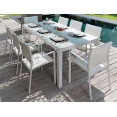 Touch - T - Table in aluminium,also extendable, for garden, available in several sizes