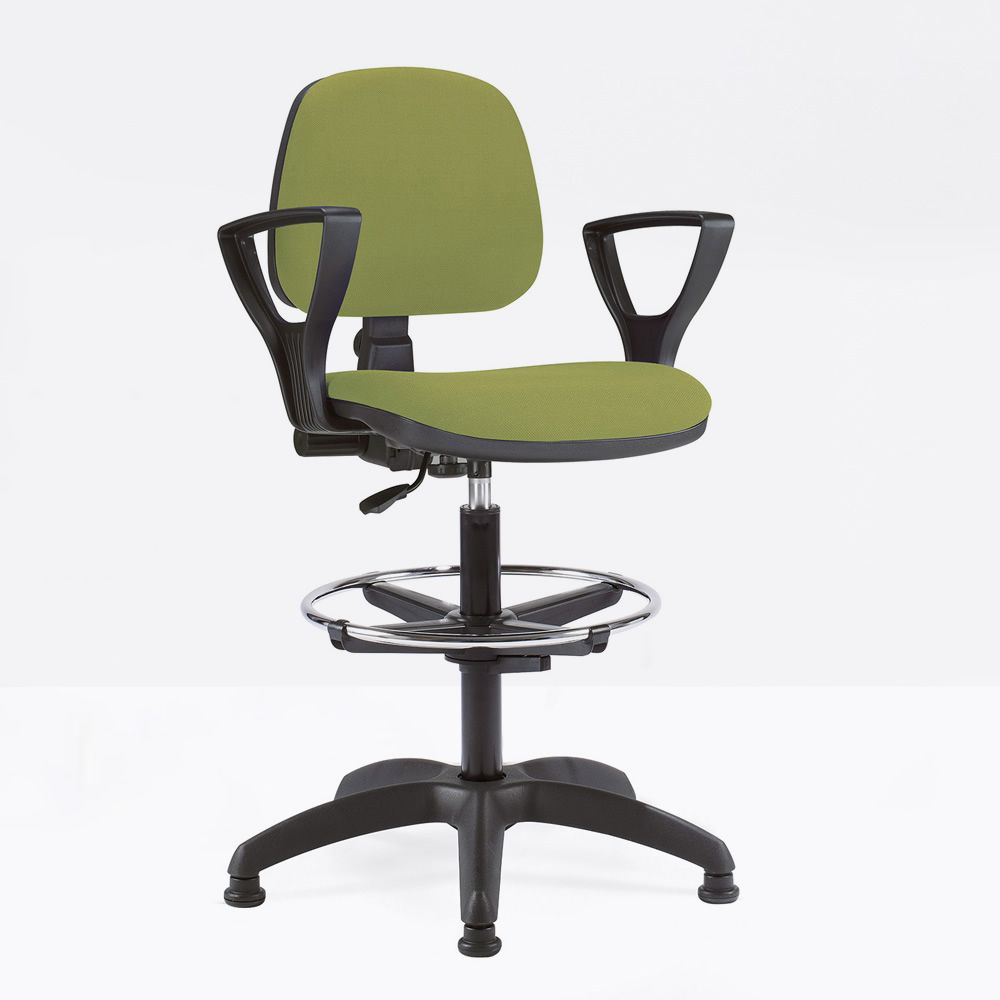 Operative office stool, with armrests Golf