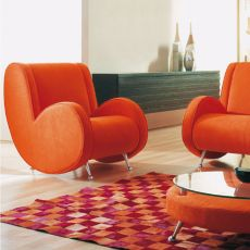 Ata - Designer armchair Adrenalina, available in different fabrics and colors