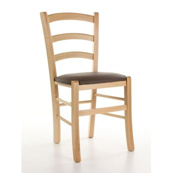 110 - Chair with imitation leather seat