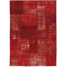 Antalya Red - Modern red carpet made of pure virgin wool hand-knotted