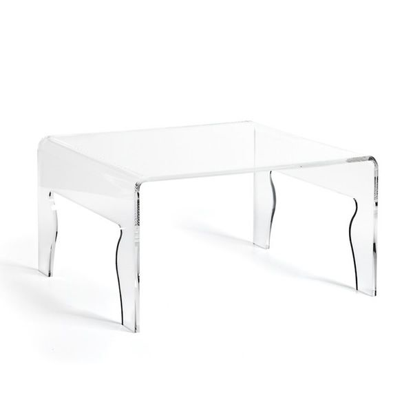 Coffee table made of transparent methacrylate (size: S)