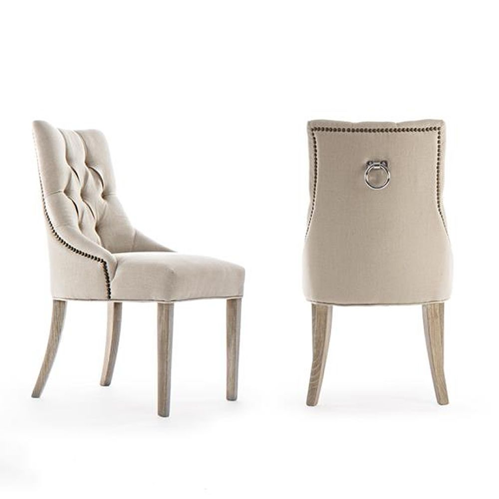 Classic chair padded with quilted backrest