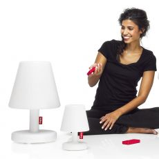 Edison The Medium - Table lamp Fatboy, in white polypropylene, with remote control, LED, for outdoor