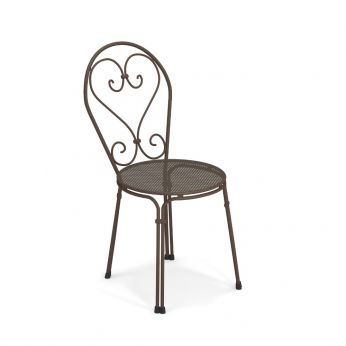 Pigalle 909 - India brown varnished metal chair