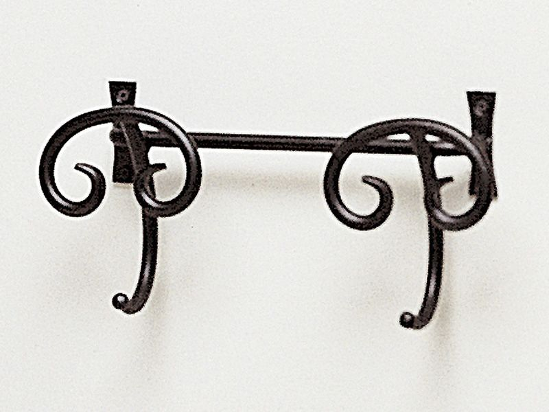 Coat rack in graphite varnished iron, size S