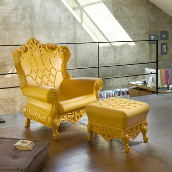 Queen Of Love   Polyethylene Design Armchair In Saffron Yellow Colour,  Matched With Prince Of