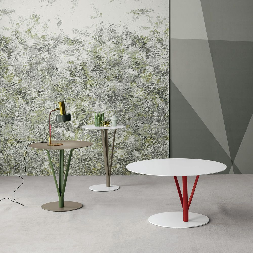 Bonaldo metal coffee tables, round-shaped, available in different sizes and colours