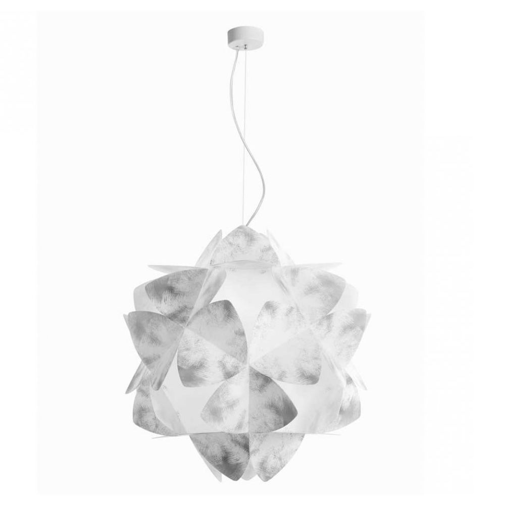 Sandylex and methacrylate suspension lamp, grey colour, size L