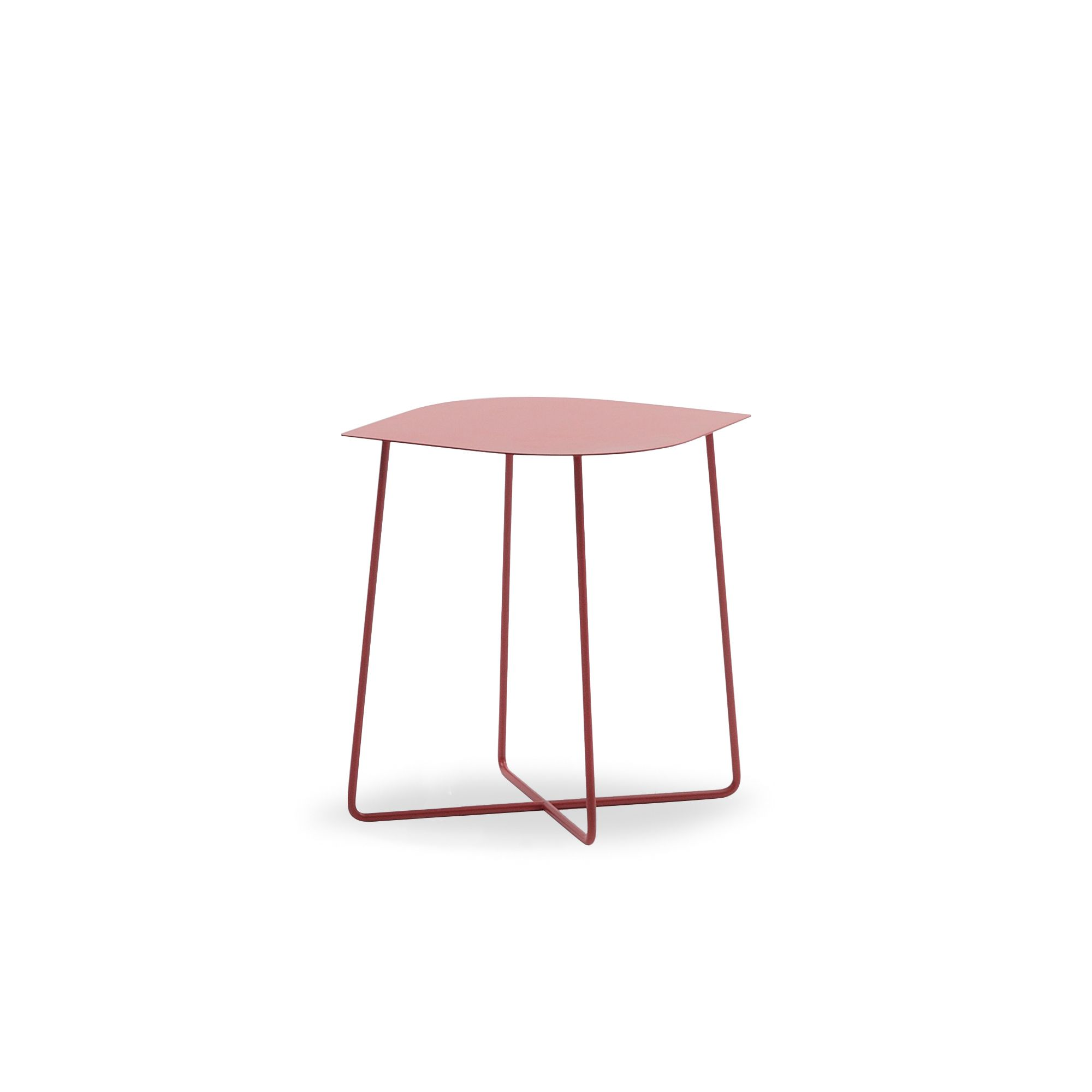 Bonaldo metal coffee table, Leaf high model, with late metal top, available in multiple colours