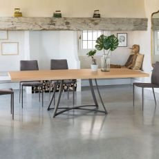 Dallas 42.83 - Rectangular table, in metal, with 250x106 cm top, available in several finishes