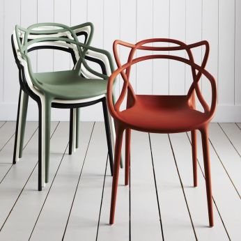 Masters - Stacking design chair, made of polypropylene