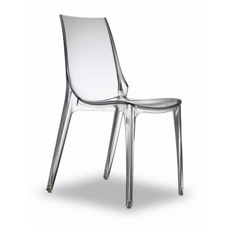 Vanity Chair 2652 - Design chair, in transparent colour