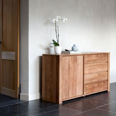 Lodge - Ethnicraft wooden sideboard with doors and drawers, different sizes available