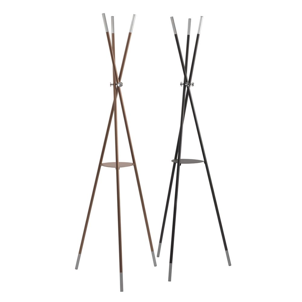 Coat-stand with copper or chocolate varnished steel structure