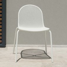 Nova 660 - Emu chair made of metal, stackable, available in several colours, for outdoor