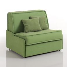 Papavero - Armchair bed, different upholsteries and colours available, totally removable covering