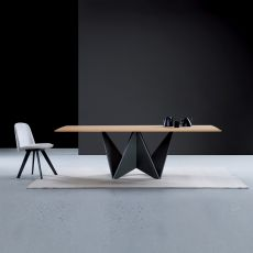 Origami - Modern wooden table, wooden top, available in several sizes