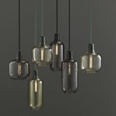 Amp - Normann Copenhagen pendant lamp made of glass and marble, different sizes available