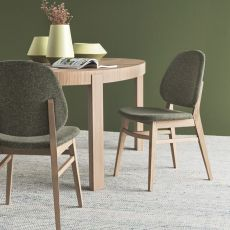 CS1491 Colette - Calligaris wooden chair, seat covered with fabric