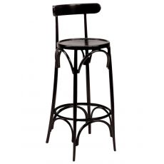 SE10037 - Vienna style stool in wood, several colours and kind of seat