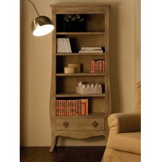 Certosa - Wooden bookcase, with drawer