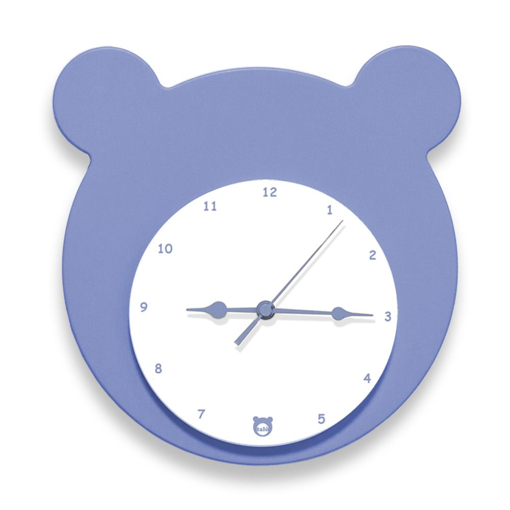 Wall clock in lavender lacquered MDF wood