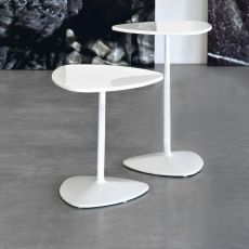 CB5061 Islands - Connubia - Calligaris metal coffee table, laminated top, different heights