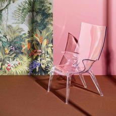 Uncle Jim - Kartell design armchair, in polycarbonate, several colours, also for garden