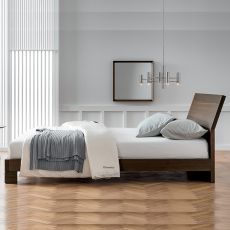 Basic - Dall'Agnese double bed with wooden frame, different sizes and finishes available