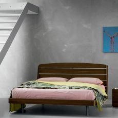Bolero - Dall'Agnese double bed with wooden frame, different sizes and finishes available