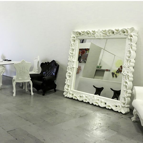 Polyethylene mirror, white colour (size: L)