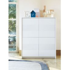 CB6031-4 Password - Mobile alto - credenza Connubia - Calligaris in legno laccato, 125 x 52 cm