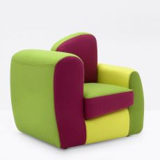 Symbol Baby - Designer armchair Adrenalina, for children, different coverings available