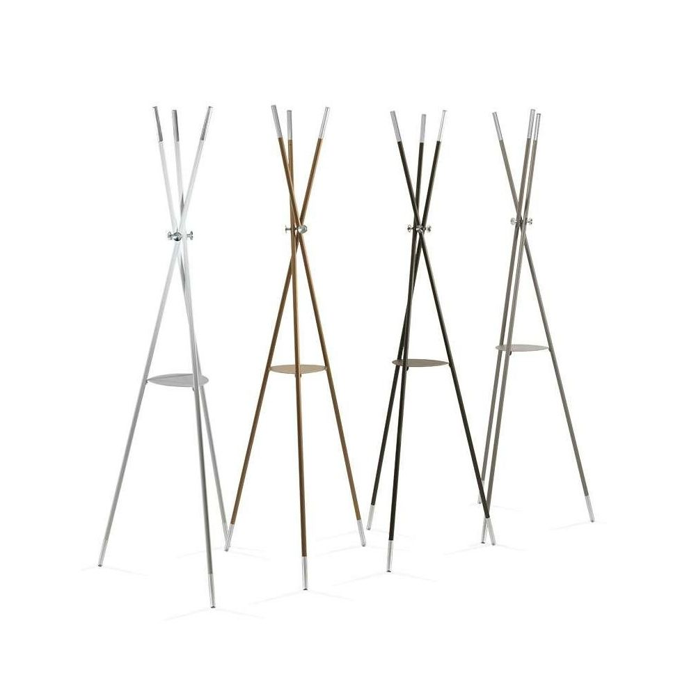 Coat-stand varnished steel structure