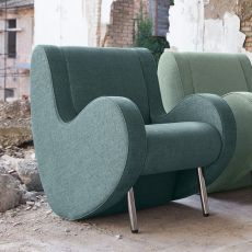 Atina - Designer armchair Adrenalina, available in different fabrics and colors