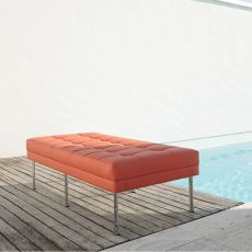 Daisy Bench - Design 2 seater bench with metal structure, available in different finishes