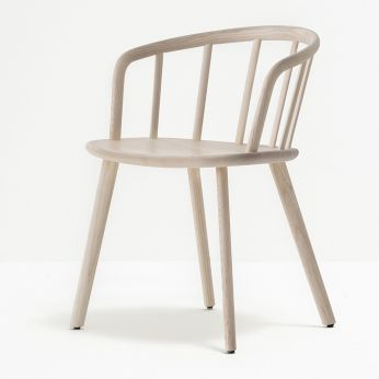 Nym 2835 - Design chair in whitened ash wood