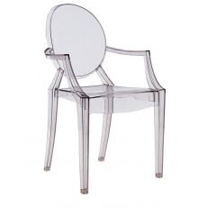 Louis Ghost - Kartell design armchair, transparent or full colour polycarbonate, stackable, also for garden
