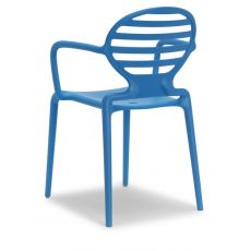 Cokka P 2280 - Technopolymer armchair in different colours, stackable, also for outdoor