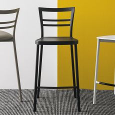 CB1513 Go! - Bar stool in metal, with several seats available, seat height 65 cm
