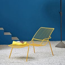 Nolita chaise longue - Pedrali sunbed in metal, for outdoor use