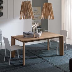 Milanodue - Modern table in wood, extendable, available in several sizes