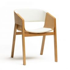 Merano 400 R - Ton armchair in wood, with padded seat