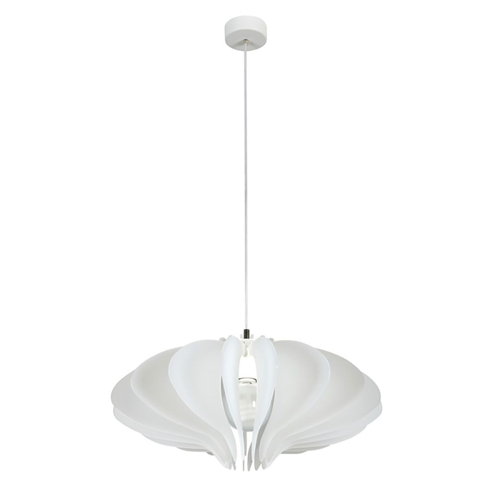 Lampe à suspension en méthacrylate blanc satiné