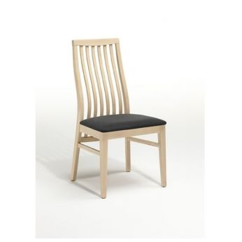 Odessa - Eco-friendly FSC oiled beech chair, eco leather seat