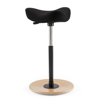 Move™ - Ergonomic stool with seat's covering in Fame fabric 0999 black