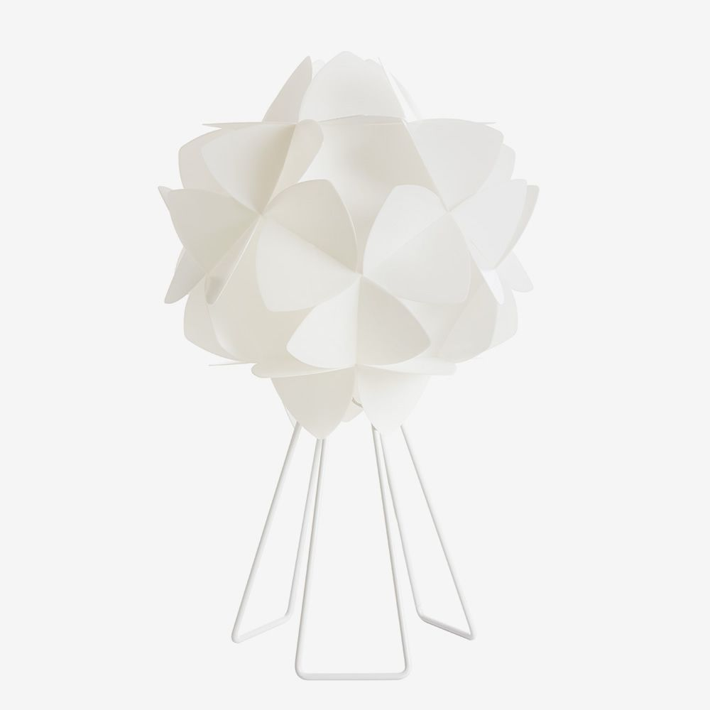 Sandylex and metal table lamp, white colour
